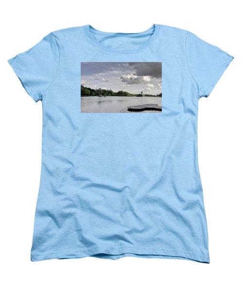 Women's T-Shirt (Standard Cut) featuring the photograph Cloudy Hyde Park by Maj Seda