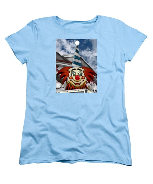 Clown Around Women's T-Shirt (Standard Cut) by Colleen Kammerer