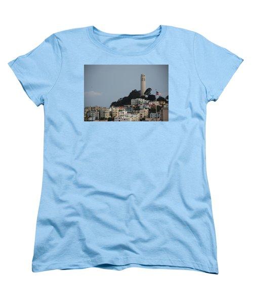 Women's T-Shirt (Standard Cut) featuring the photograph Coit Tower by Eric Tressler