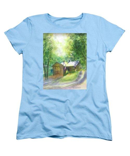 Cool Colorado Cabin Women's T-Shirt (Standard Cut) by Debbie Lewis