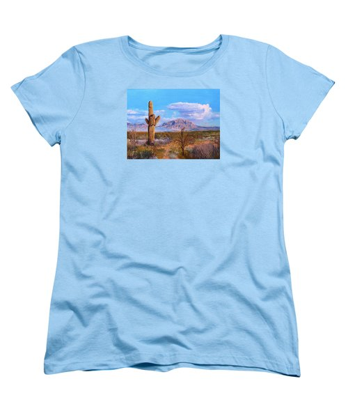 Women's T-Shirt (Standard Cut) featuring the painting Desert Scene 4 by M Diane Bonaparte
