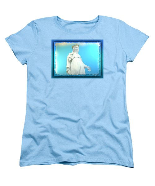 Do-00531 Our Lady Of Lebanon Women's T-Shirt (Standard Cut) by Digital Oil