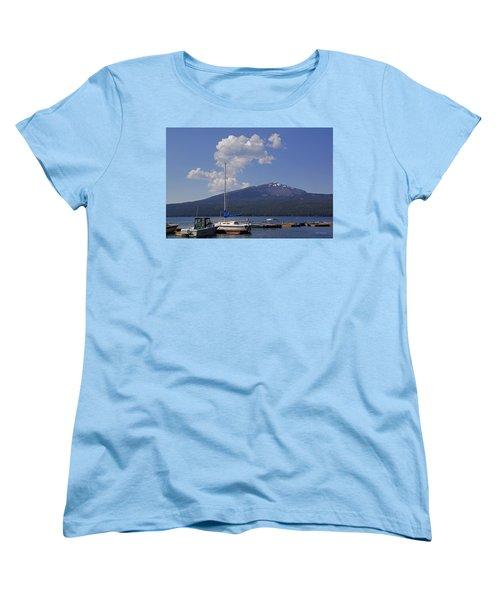 Docks At Diamond Lake Women's T-Shirt (Standard Cut) by Mick Anderson