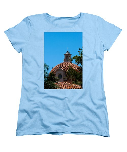 Women's T-Shirt (Standard Cut) featuring the photograph Dome At Church Of The Little Flower by Ed Gleichman