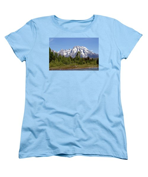 Driftwood And The Grand Tetons Women's T-Shirt (Standard Cut) by Living Color Photography Lorraine Lynch