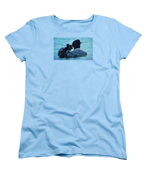 Duck Family Joy In The Lake  Women's T-Shirt (Standard Cut) by Colette V Hera  Guggenheim