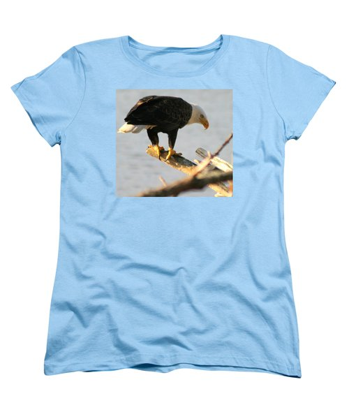 Women's T-Shirt (Standard Cut) featuring the photograph Eagle On His Perch by Kym Backland