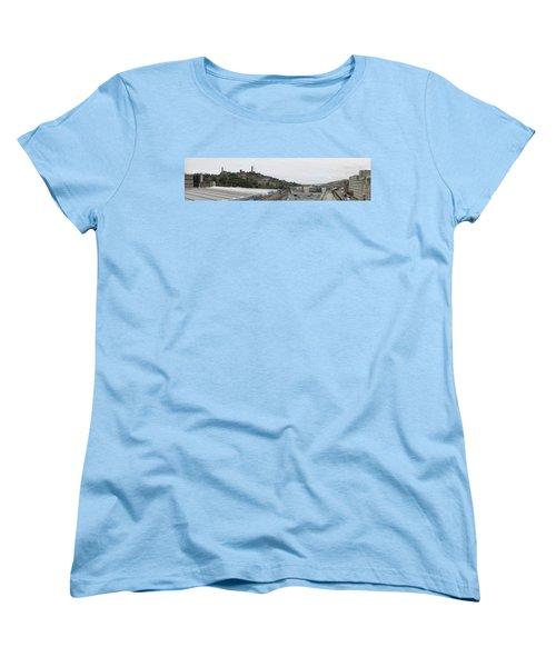 Edinburgh Station Panorama Women's T-Shirt (Standard Cut) by Ian Kowalski
