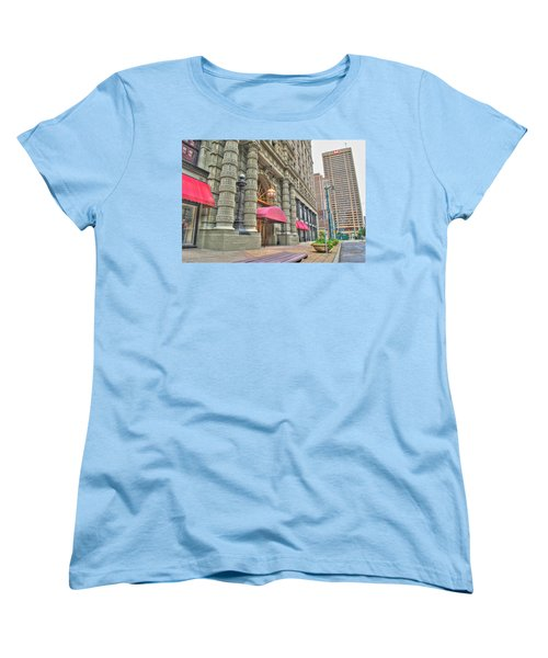 Women's T-Shirt (Standard Cut) featuring the photograph Ellicott Square Building And Hsbc by Michael Frank Jr