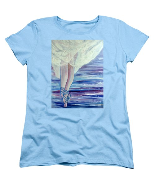 Women's T-Shirt (Standard Cut) featuring the painting En Pointe by Julie Brugh Riffey