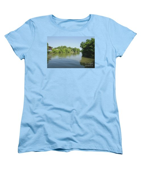 Women's T-Shirt (Standard Cut) featuring the photograph Erie Canal by William Norton