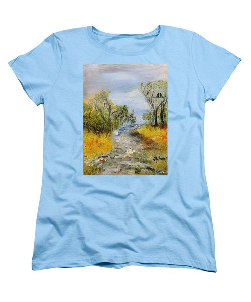 Evening Romance Women's T-Shirt (Standard Cut) by Evelina Popilian