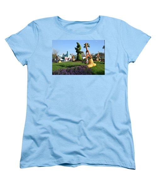 Fantasia In Flowers Women's T-Shirt (Standard Cut) by Bonnie Myszka