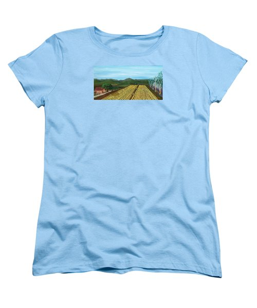Field Of Yarrow-that's A Flower Women's T-Shirt (Standard Cut) by Katherine Young-Beck