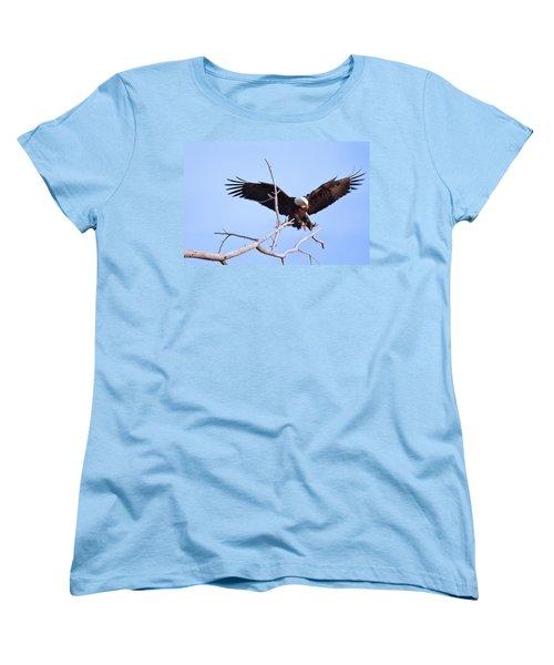Women's T-Shirt (Standard Cut) featuring the photograph Final Approach by Jim Garrison