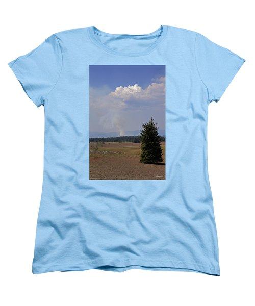 Fire In The Cascades Women's T-Shirt (Standard Cut) by Mick Anderson