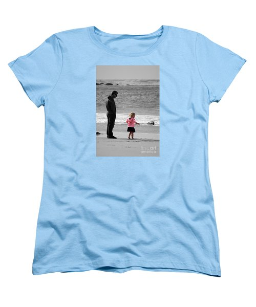 Women's T-Shirt (Standard Cut) featuring the photograph Fish With Me Daddy by Terri Waters