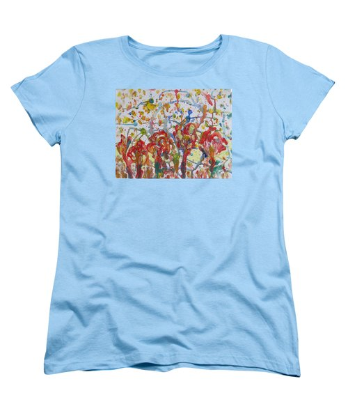 Women's T-Shirt (Standard Cut) featuring the painting Floral Feel by Sonali Gangane