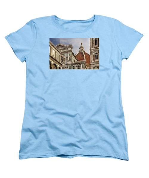 Women's T-Shirt (Standard Cut) featuring the photograph Florence Duomo by Steven Sparks