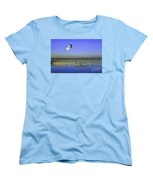 Women's T-Shirt (Standard Cut) featuring the photograph Flying Solo by Clayton Bruster