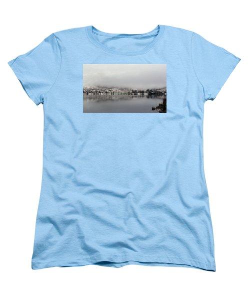 Women's T-Shirt (Standard Cut) featuring the photograph Fog On The Loch by Lynn Bolt