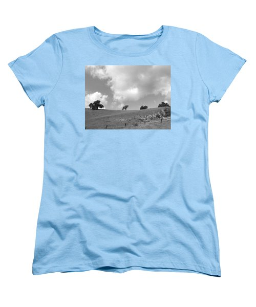Women's T-Shirt (Standard Cut) featuring the photograph Four On The Hill by Kathleen Grace