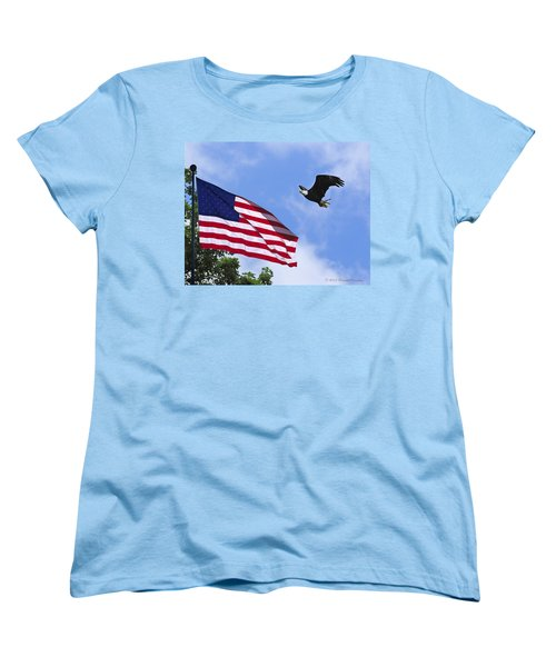 Women's T-Shirt (Standard Cut) featuring the photograph Freedom Feeds The Family by Randall Branham