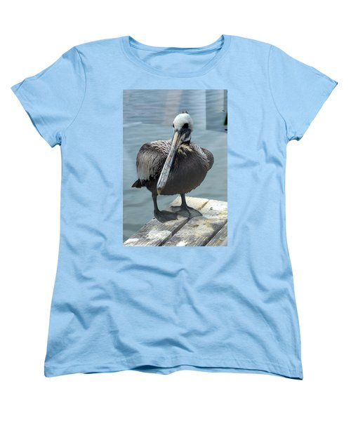 Women's T-Shirt (Standard Cut) featuring the photograph Friendly Pelican by Carla Parris