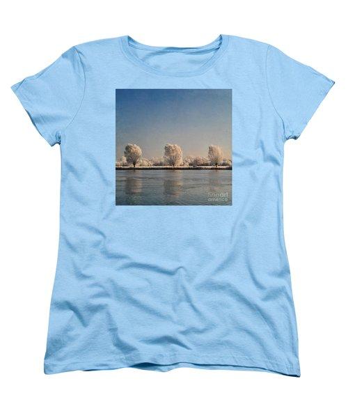 Frozen Lake Women's T-Shirt (Standard Cut) by Lyn Randle