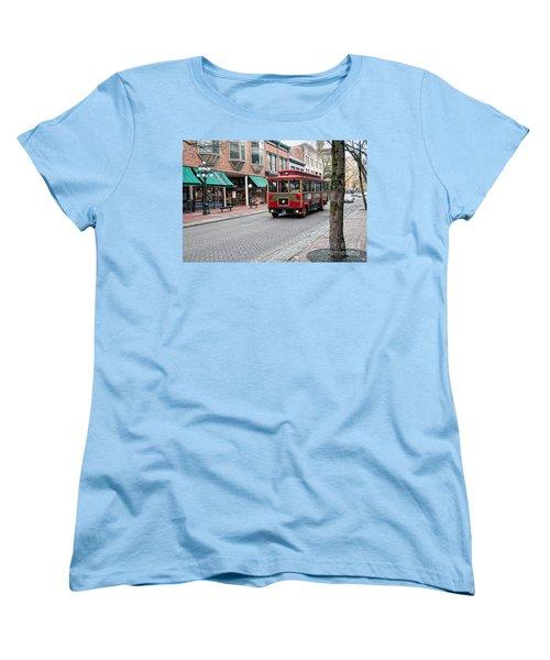 Women's T-Shirt (Standard Cut) featuring the digital art Gastown Street Scene by Carol Ailles