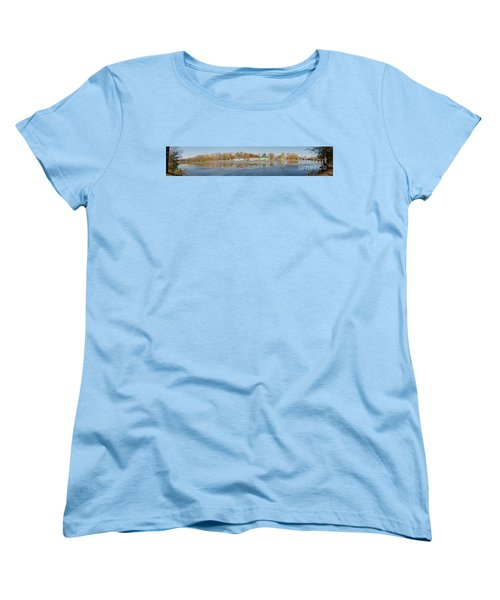 Women's T-Shirt (Standard Cut) featuring the photograph Genesee River Panorama by William Norton