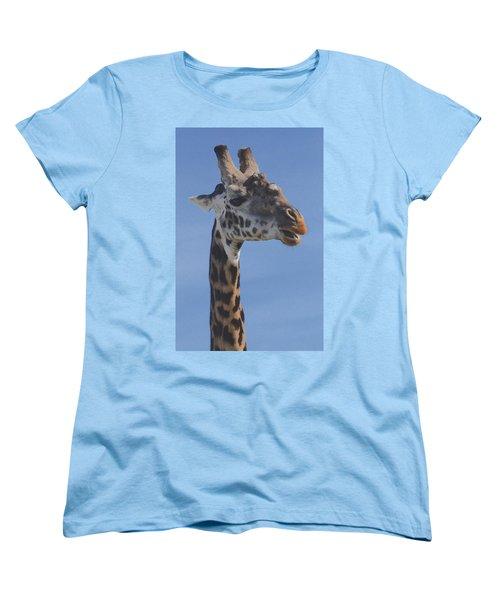 Giraffe Headshot Women's T-Shirt (Standard Cut) by Tom Wurl