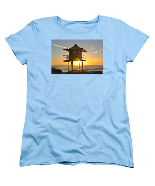 Women's T-Shirt (Standard Cut) featuring the photograph Gold Coast Life Guard Tower by Eric Tressler