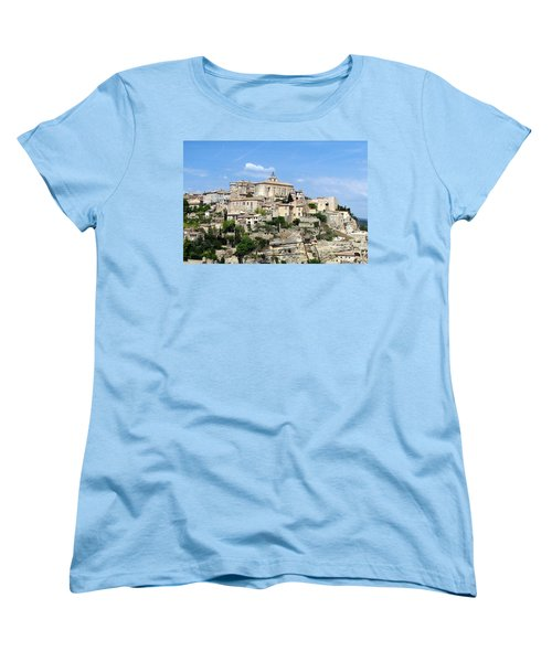 Women's T-Shirt (Standard Cut) featuring the photograph Gordes In Provence by Carla Parris