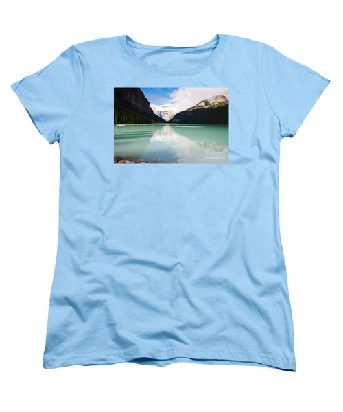Women's T-Shirt (Standard Cut) featuring the photograph Gorgeous Lake Louise by Cheryl Baxter