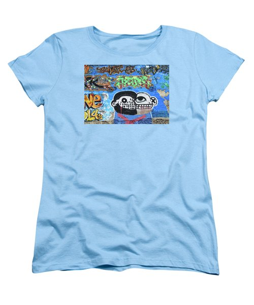 Women's T-Shirt (Standard Cut) featuring the photograph Graffiti Provence France by Dave Mills