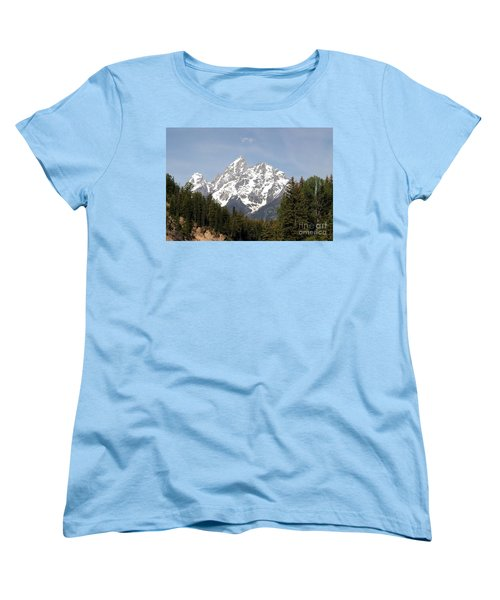 Grand Tetons Women's T-Shirt (Standard Cut) by Living Color Photography Lorraine Lynch