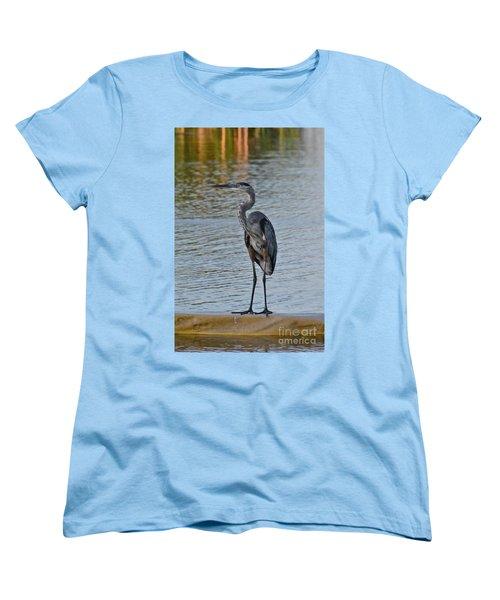 Women's T-Shirt (Standard Cut) featuring the photograph Great Blue Heron by Carol  Bradley