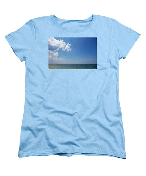 Women's T-Shirt (Standard Cut) featuring the photograph Gulf Sky by Kay Lovingood