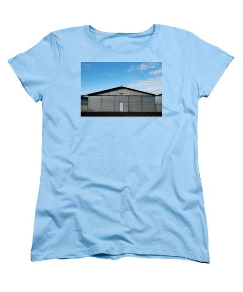 Women's T-Shirt (Standard Cut) featuring the photograph Hangar 2 The Building by Kathleen Grace
