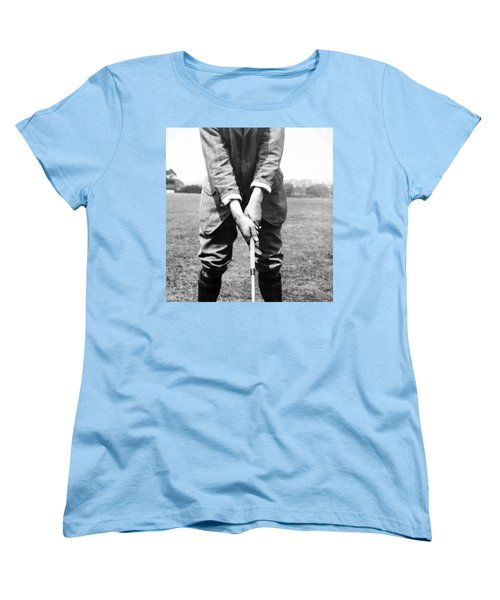 Women's T-Shirt (Standard Cut) featuring the photograph Harry Vardon Displays His Overlap Grip by International  Images
