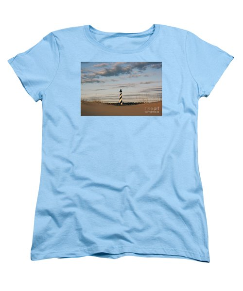 Hatteras Lighthouse And The Smiling Dune Women's T-Shirt (Standard Cut) by Tony Cooper