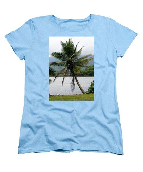 Women's T-Shirt (Standard Cut) featuring the photograph Hawaiian Palm by Athena Mckinzie