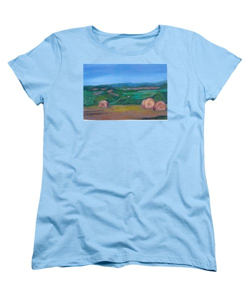 Hay Bales Women's T-Shirt (Standard Cut) by Christine Lathrop