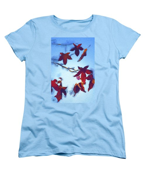 Women's T-Shirt (Standard Cut) featuring the digital art Here Today by Holly Ethan