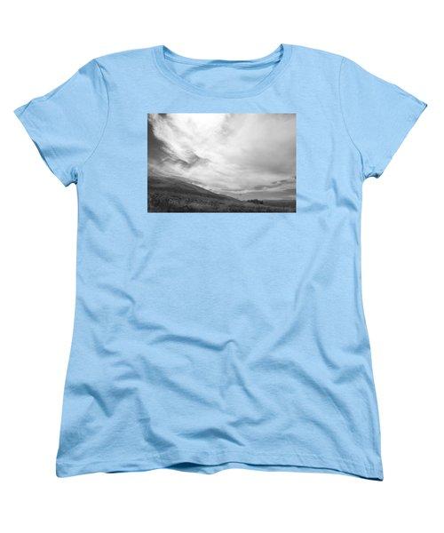 Women's T-Shirt (Standard Cut) featuring the photograph Hillside Meets Sky by Kathleen Grace