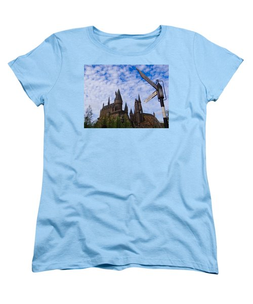 Hogwarts Castle Women's T-Shirt (Standard Cut) by Julia Wilcox