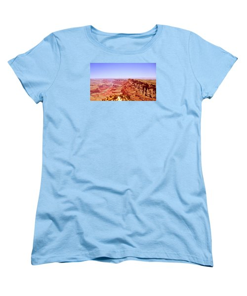 Women's T-Shirt (Standard Cut) featuring the photograph horizon in Grand Canyon by Rima Biswas