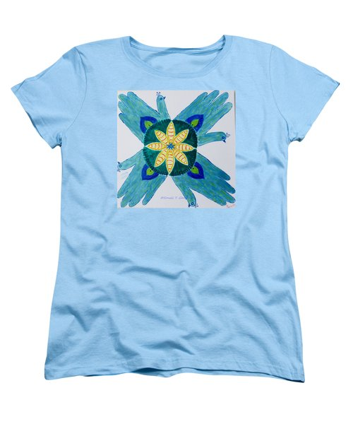 Women's T-Shirt (Standard Cut) featuring the painting Impression by Sonali Gangane
