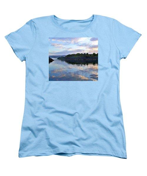 Women's T-Shirt (Standard Cut) featuring the photograph Inverkip Marina by Lynn Bolt